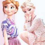 Frozen Elsa Modern Fashion